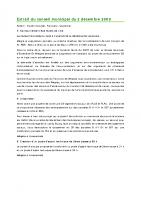 0912 Extrait du conseil municipal du 2 décembre 2009