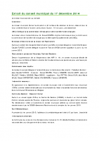 1412 Extrait du conseil municipal du 17 décembre 2014