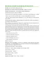 1603 Extraits du conseil municipal du 29 mars 2016