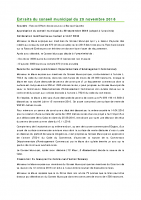 1611 Extraits du conseil municipal du 29 novembre 2016