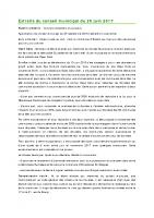 1705 Extraits du conseil municipal du 20 juin 2017