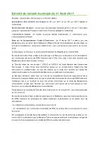 1708 Extraits du conseil municipal du 31 Août 2017