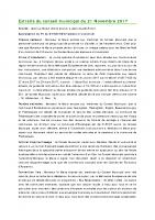 1711 Extraits du conseil municipal du 21 Novembre 2017